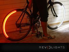 So cool. LED lights mounted to your wheels use algorithms based on speed to determine when to turn on and off. Effectively turning into headlights and taillights, mimicking a car for better visibility of riders.