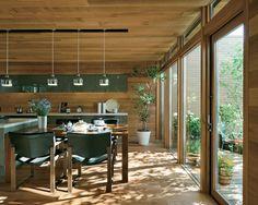 wooden ceiling, wooden paneling, wooden floor