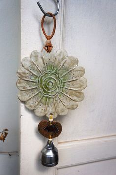 Handmade ceramic wind chimes designed with organic by chimloms Ceramic Jewelry, Ceramic Beads, Ceramic Clay, Ceramic Pottery, Ceramics Projects, Clay Projects, Hand Built Pottery, Ceramic Techniques, Clay Tiles