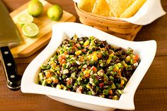 Black Bean Salsa from Brown-Eyed Baker. Totally need to make this this weekend.