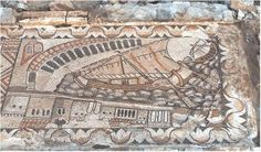 The Kelenderis mosiac. The 12 m mosaic illustrates a city panorama of Kelenderis and a harbor in which 2 boats are located as well as a roman bath, warehouses and other structures. Inspired from pictures on the mosaic, archaeologists found a peninsula, ruins of harbor and an arched structure. The site has traces of settlement from 5,000 years ago and the harbor portrays the oldest harbor in Anatolia.
