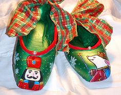 Painted Pointe Shoes, Nutcracker & Mouse King