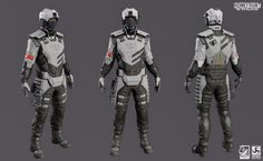 ArtStation - Homefront: The Revolution - KPA Soldier, Richard Smith: Sci Fi Armor, Sci Fi Weapons, Futuristic Armour, Futuristic Art, Cyberpunk Character, Cyberpunk Art, Character Concept, Character Design, Armor Clothing