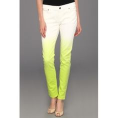 MICHAEL Michael Kors - Dip Dyed Skinny Jean (White/Pear) - Apparel - product - Product Review
