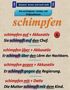 Duits - Deutsch - schimpfen - naamval - Kasus - Präpositionen - voorzetsels