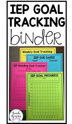 IEP Goal Tracking Binder- Data Collection for Special Education {Data Sheets} : IEP goal tracking is one of the most important ways to track data as a special education teacher. This IEP goal tracking binder is super helpful and a HUGE time saver! Classroom Organization, Classroom Management, Special Education Organization, Organization Skills, Classroom Supplies, Behavior Management, Management Tips, Classroom Ideas, Geek Culture