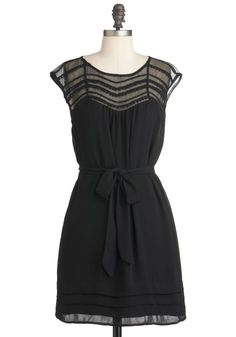 Lacking Nothing Dress | Mod Retro Vintage Dresses | ModCloth.com  Love this little black dress!