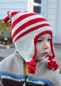 Elf hat. I must learn to knit.