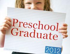 Look Who is Graduating from Preschool! Preschool & Kindergarten graduation printables and ideas.