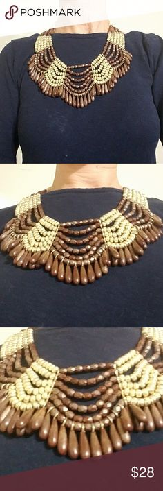 ❤MUST GO-MOVING❤NEW TALBOTS Statement Neckla NEW W/O TAGS (Never worn) TALBOTS Brown/Gold Breaded Statement Necklace Talbots Jewelry Necklaces