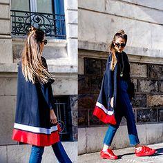 Alison Liaudat - H&M Long Blazer, Adidas Originals Supercolor Superstar, Burberry Sunglasses, Jeanne Damas X La Redoute Straight Cut Jeans - A LITTLE WIND SHOWS UP