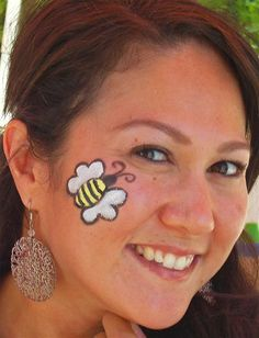 face painting ideas — bee