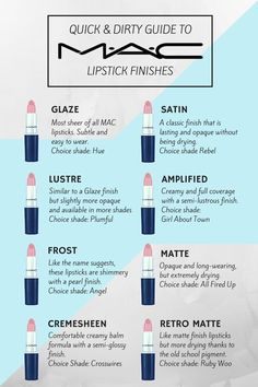 on Guide and definitions of MAC lipstick finishes. Perfect high end luxury makeup products to add to your kit or collection.Guide and definitions of MAC lipstick finishes. Perfect high end luxury makeup products to add to your kit or collection. Kiss Makeup, Love Makeup, Stunning Makeup, Devil Makeup, Witch Makeup, Scary Makeup, Amazing Makeup, Glitter Makeup, Simple Makeup