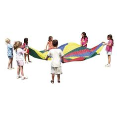 Features: -Active / cooperative play. -Helps develop coordination, movement awareness, balance and muscle tone. Color: -Rainbow. Primary Material: -Polyester. Dimensions: Size 20' - Overall Heigh
