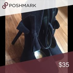 Black Heels Super cute Excellent condition black high heels worm twice!! Only worn twice! Shoes Heels