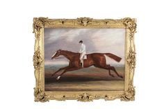 Samuel Spode (1798-1872) Harkaway Oil on canvas, 71 x 94cm (28 x 37'') Signed, Inscribed with title Harkaway was a chesnut horse by Economist out of Fanny Dawson, by Nackbocklish out of his Miss Tooley, by Teddy the Grinder. He was bred at Sheepbrid. Previously on sale at ADAM'S. www.adams.ie