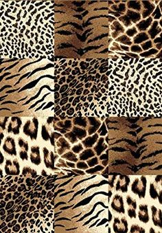 Creative Home Safari Area Rug Brown Checkered Cheetah Animal Print x Rectangle Textile Pattern Design, Textile Patterns, Print Patterns, Animal Print Wallpaper, Animal Print Rug, Giraffe Print, Cheetah Animal, Safari Theme, Modern Area Rugs