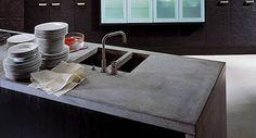 Top da cucina: PIano Top Cucina, Top in cemento Küchen Design, House Design, Outdoor Barbeque, Concrete Countertops, Interior Architecture, Sink, Home Decor, Trieste, Pj