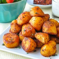 Smoked Paprika Roasted Potatoes - you'll want to serve these easy, crispy, flavourful roast potatoes with everything from lamb to chicken souvlaki and more.