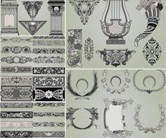 Download This:  Decorative ornamental elements vector 2