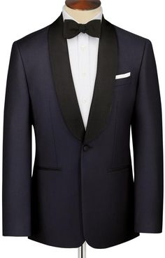 Midnight blue Slim fit shawl collar dinner suit jacket