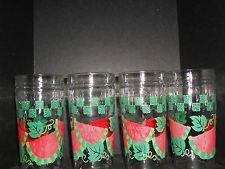 VINTAGE ANCHOR HOCKING***WATERMELON DRINKING GLASSES***SET OF 4 ***