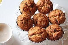 Eggless Mocha Chocolate Chip Banana muffins - Yummilicious!