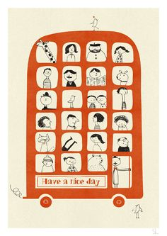 have a nice day. print by Blanca Gomez.