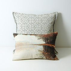 Black outline casas cushion and Red lake. http://www.chocolatecreative.co.uk