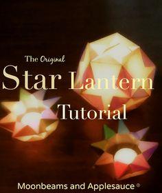 Moonbeams and Applesauce: Original Star Lantern Tutorial