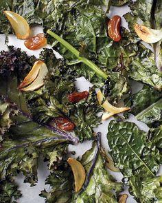Roasted Kale, Golden Raisins, and Garlic- my favorite kale recipe!