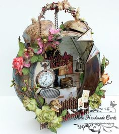 Beautiful Altered Clock - Wendy Schultz ~ Altered Art Projects.