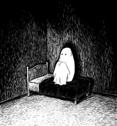 Find images and videos about black and white, drawing and manga on We Heart It - the app to get lost in what you love. Arte Horror, Horror Art, Art And Illustration, Anime Kunst, Anime Art, Ghost Drawing, Vent Art, Dark Drawings, Arte Obscura