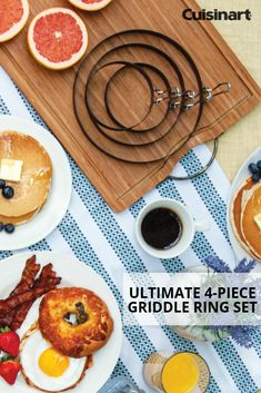 It's the so start your Saturday off with a The ultimate griddle ring set simplifies breakfast preparing perfectly shaped and 🥓🍳 Egg Rings, Good Food, Yummy Food, Homemade Breakfast, Bbq Ideas, Omelet, Apple Slices, Griddles, Fritters