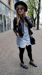 Birgit Veskiväli - Zara Dungarees, Zara Shirt, Zara Boots, H&M Hat, Hipster Bag - Layer it up