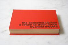 The Seasonal Kitchen Cookbook, published in 1973. Fresh foods, seasonal produce & helvetica font = WIN. Source: 101 Cookbooks