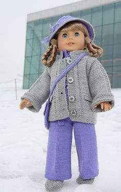 American girl doll knitting patterns | American girl doll patterns