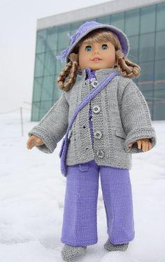 Puppenstrickmuster für die American Girl Puppe KIRSTEN