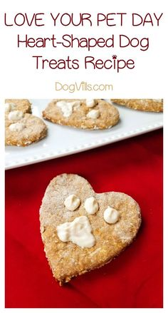Celebrate Love Your Pet Day every day with these adorable & tasty homemade heart-shaped dog biscuits! Grab the recipe now!