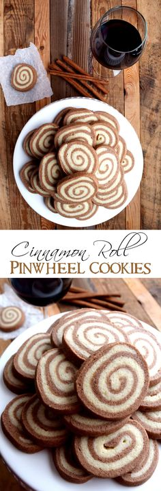 Cinnamon Roll Pinwheel Cookies