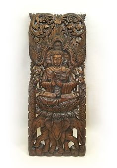Wood Panel Wall Decor floral wood carved wall panel. wall hanging. decorative thai wall