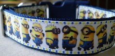 Minions Dog Collar large by dlkompare on Etsy, $12.95