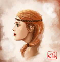 I love this  feminine portrait of Aveline from Dragon Age 2. ~Aveline by RinaCne on deviantART
