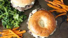 Steak and Cheese Bagel Sandwich