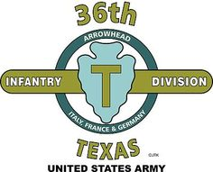 """36th Infantry Division""""Texas Division"""" United States Army Shirt.  WORLD WAR II  Mediterranean & European Campaigns: Naples-Foggia*Anzio*Rome-Arno*Southern France*Rhineland*Ardennes-Alsace*Central Europe.  (August 1945 Location:Kufstein, Austria)  (Killed In Action: 3,131)  (Wounded In Action: 13,191)  (Died Of Wounds: 506)"""