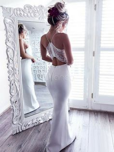 Beautiful Prom Dress, white prom gown sexy prom dresses lace evening gowns mermaid party dresses tulle evening gowns modest formal dress white evening gown for teens Meet Dresses Modest Formal Dresses, Sexy Wedding Dresses, Sexy Dresses, Party Dresses, White Prom Dresses, Lulus Wedding Dress, Occasion Dresses, Sexy Maxi Dress, The Dress