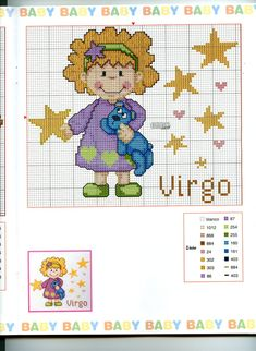 Schema punto croce Baby Oroscopo 12