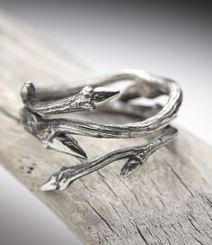Fresh branch ring silver -
