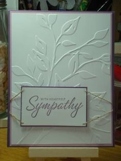Sympathy card using CB Leafy Branch