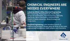 Interested in Chemical Engineering? Well, many companies are interested in you! Check out some of the industries where chemical engineers are needed.
